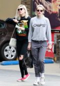 Kristen Stewart and Dylan Meyer grab a few snacks at a local liquor store in Los Feliz, California
