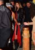 Kylie Jenner attends a western-themed party at SHOREbar in Santa Monica, California