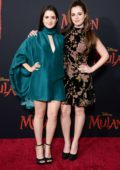 Laura and Vanessa Marano attend the Premiere of Disney's 'Mulan' at Dolby Theatre in Los Angeles