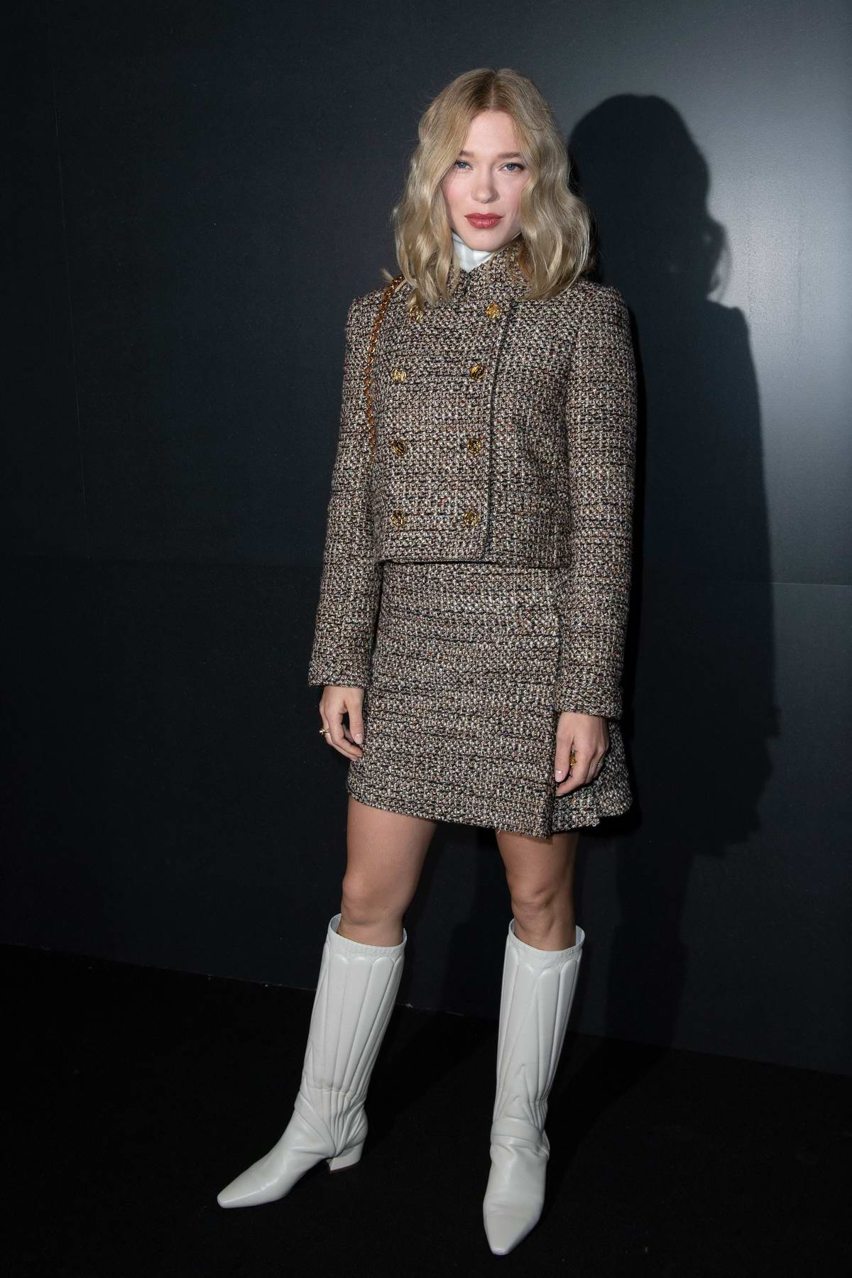 Lea Seydoux attends the Louis Vuitton fashion show, F/W 2020 during Paris Fashion Week in Paris, France
