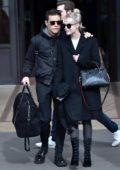 Lucy Boynton and Rami Malek seen leaving the Hôtel de Crillon in Paris, France