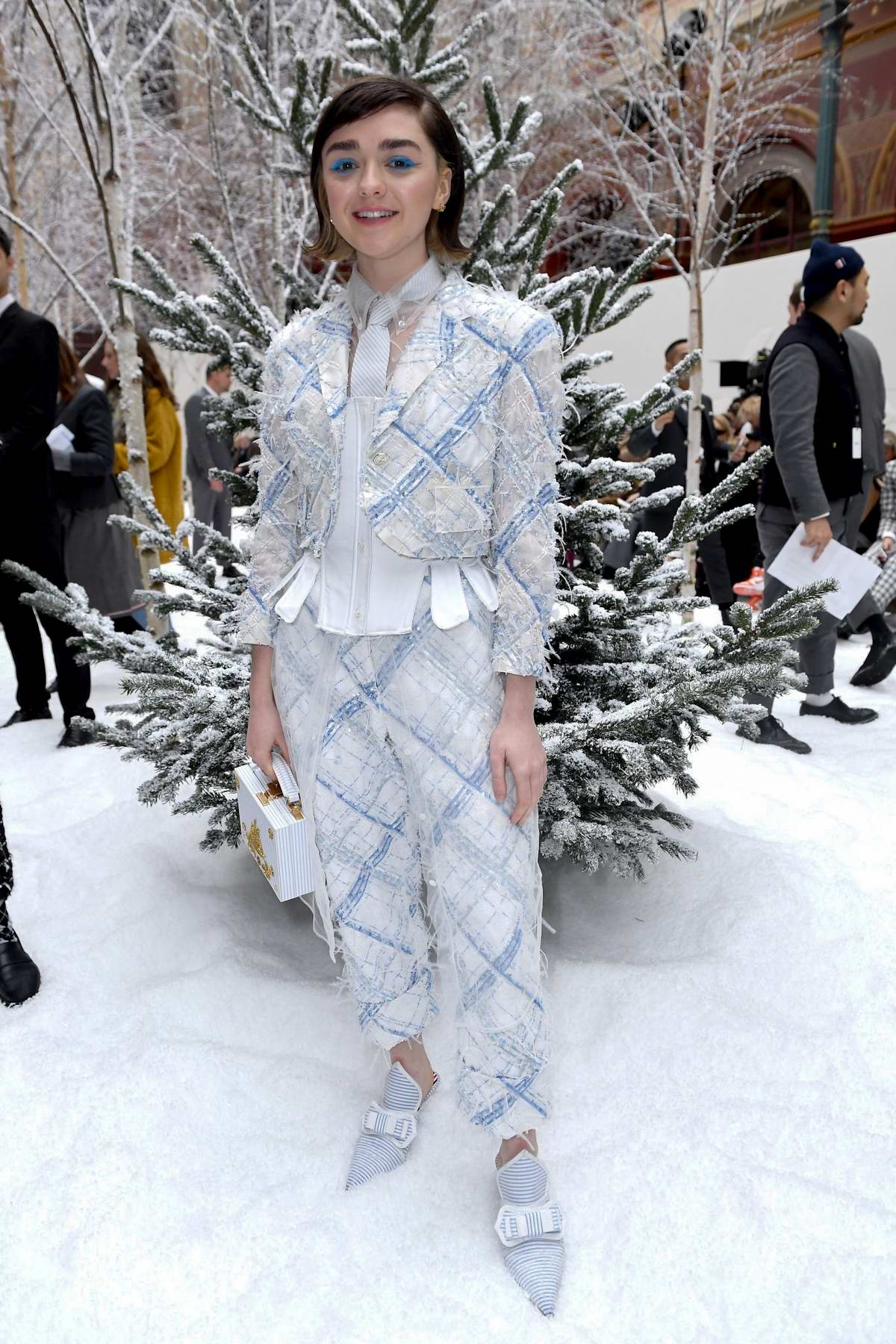 Maisie Williams attends the Thom Browne show, F/W 2020 during Paris Fashion Week in Paris, France