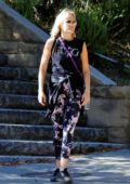Malin Akerman steps out for a hike in the hills with friends at Griffith Park in Los Angeles