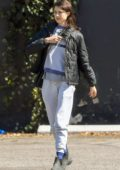 Margaret Qualley heads out for a solo walk in Los Angeles