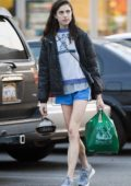Margaret Qualley picks up some food and groceries before heading out for a walk in Los Angeles