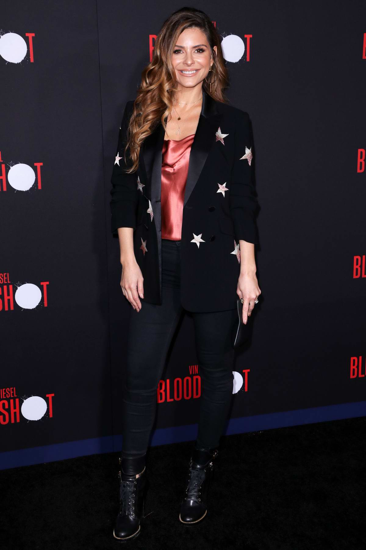 Maria Menounos attends the Premiere of 'Bloodshot' at the Regency Village Theatre in Westwood, California