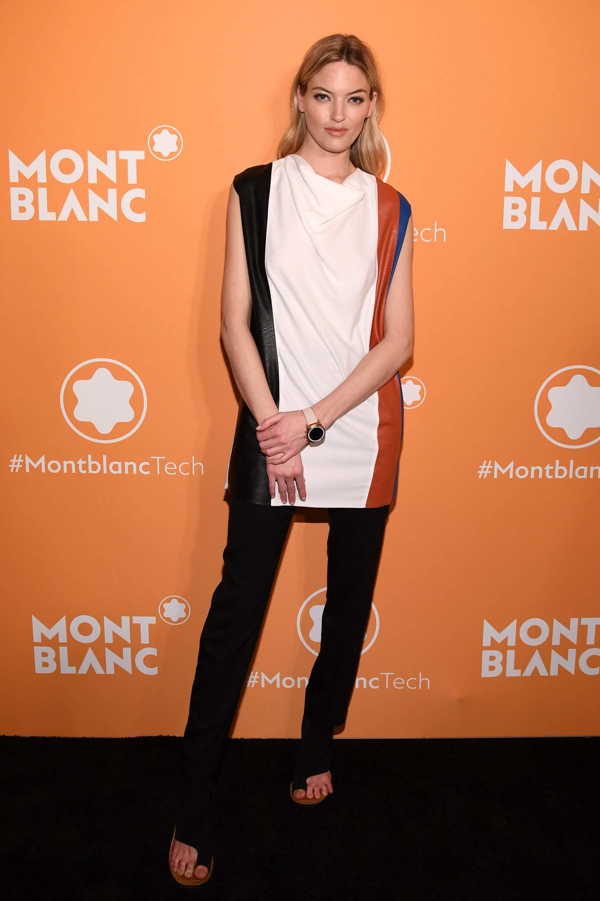 Martha Hunt attends the Montblanc MB 01 Smart Headphones and Summit 2+ launch party in New York City
