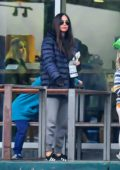 Megan Fox and Brian Austin Green take their daughters for grocery shopping at Erewhon Market in Calabasas, California