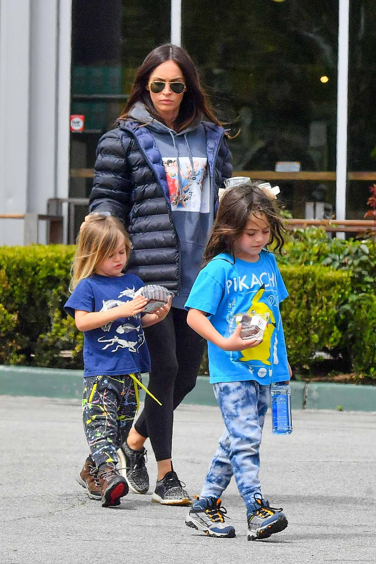 Megan Fox and Brian Austin Green take their kids to a grocery store for lunch and snacks in Los Angeles
