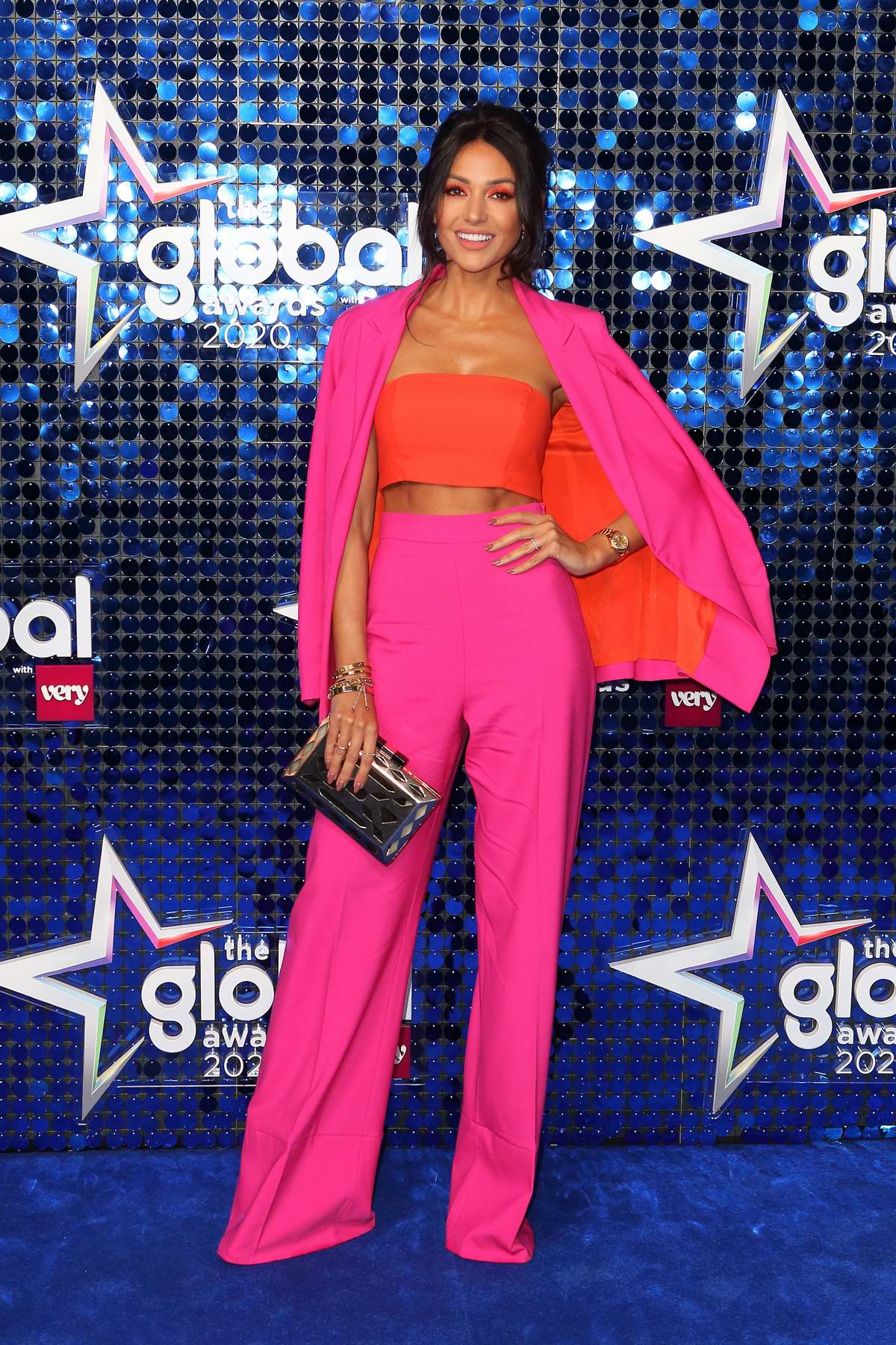 Michelle Keegan attends The Global Awards 2020 at Eventim Apollo in London, UK