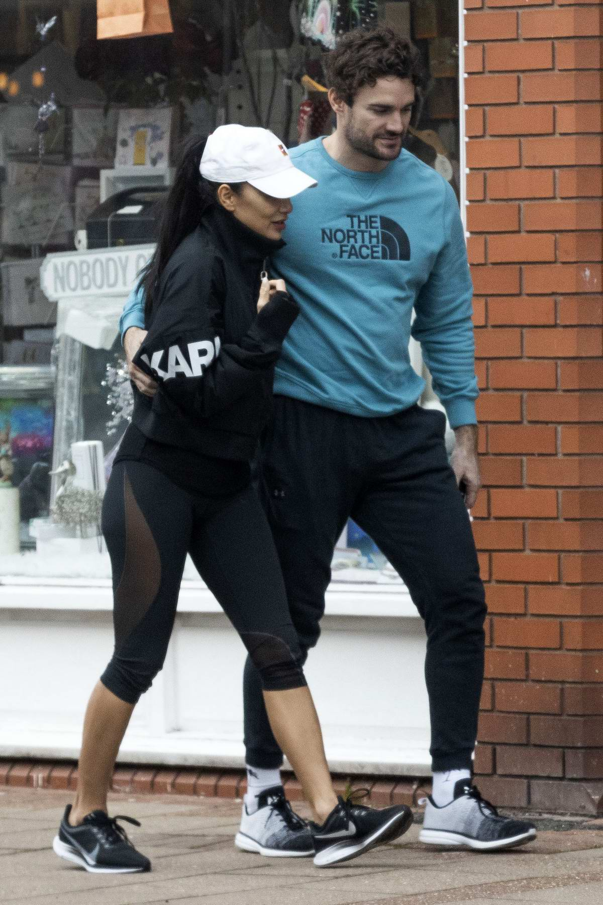 Nicole Scherzinger and Thom Evans step out for some coffee in London, UK