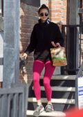 Nina Dobrev is all smiles as she leaves the gym after a workout in West Hollywood, California