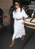 Nina Dobrev looks amazing in a white dress as she arrives at the 'Today' Show in New York City