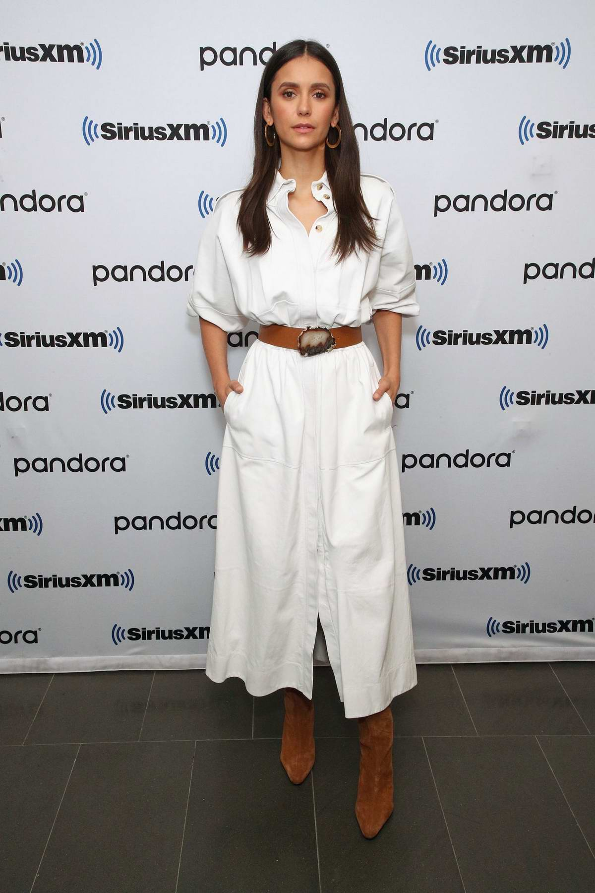 Nina Dobrev visits SiriusXM Studios to promote her new movie 'Run This Town' in New York City