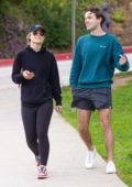 Olivia Wilde takes a stroll with her brother Charlie Cockburn in Silver Lake, Los Angeles
