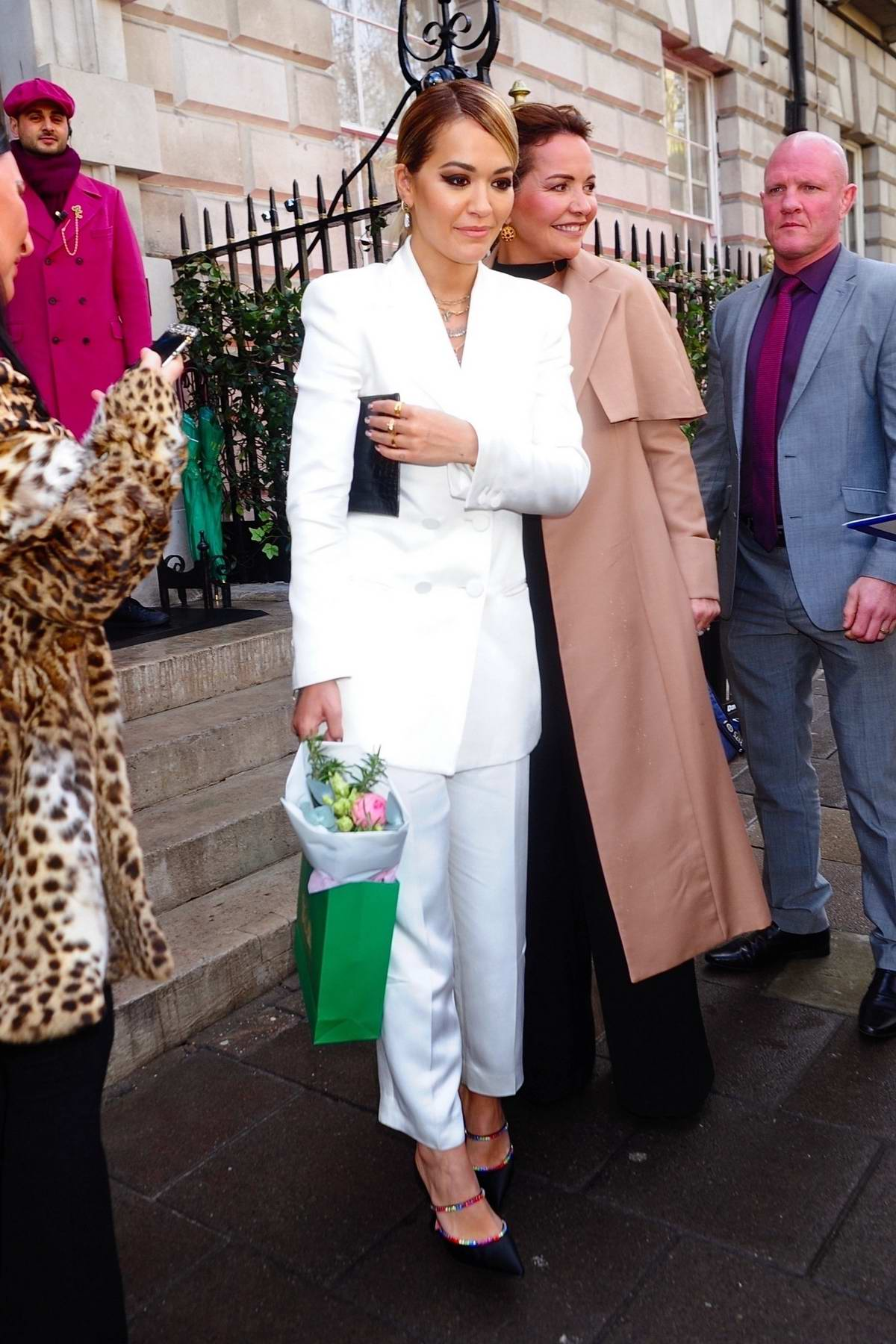 Rita Ora and her mother attend International Women's Day for The Caring Foundation at Annabel's in London, UK