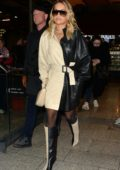 Rita Ora dons two-toned outfit with matching boots while stepping out in Paris, France