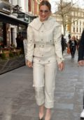 Rita Ora looks posh in an all-white ensemble as she steps in London, UK
