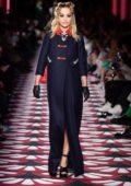 Rita Ora walks the runway at Miu Miu fashion show, F/W 2020 during Paris Fashion Week in Paris, France