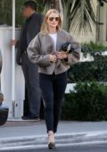 Rosie Huntington-Whiteley looks effortlessly chic as she leaves a lunch meeting in West Hollywood, California
