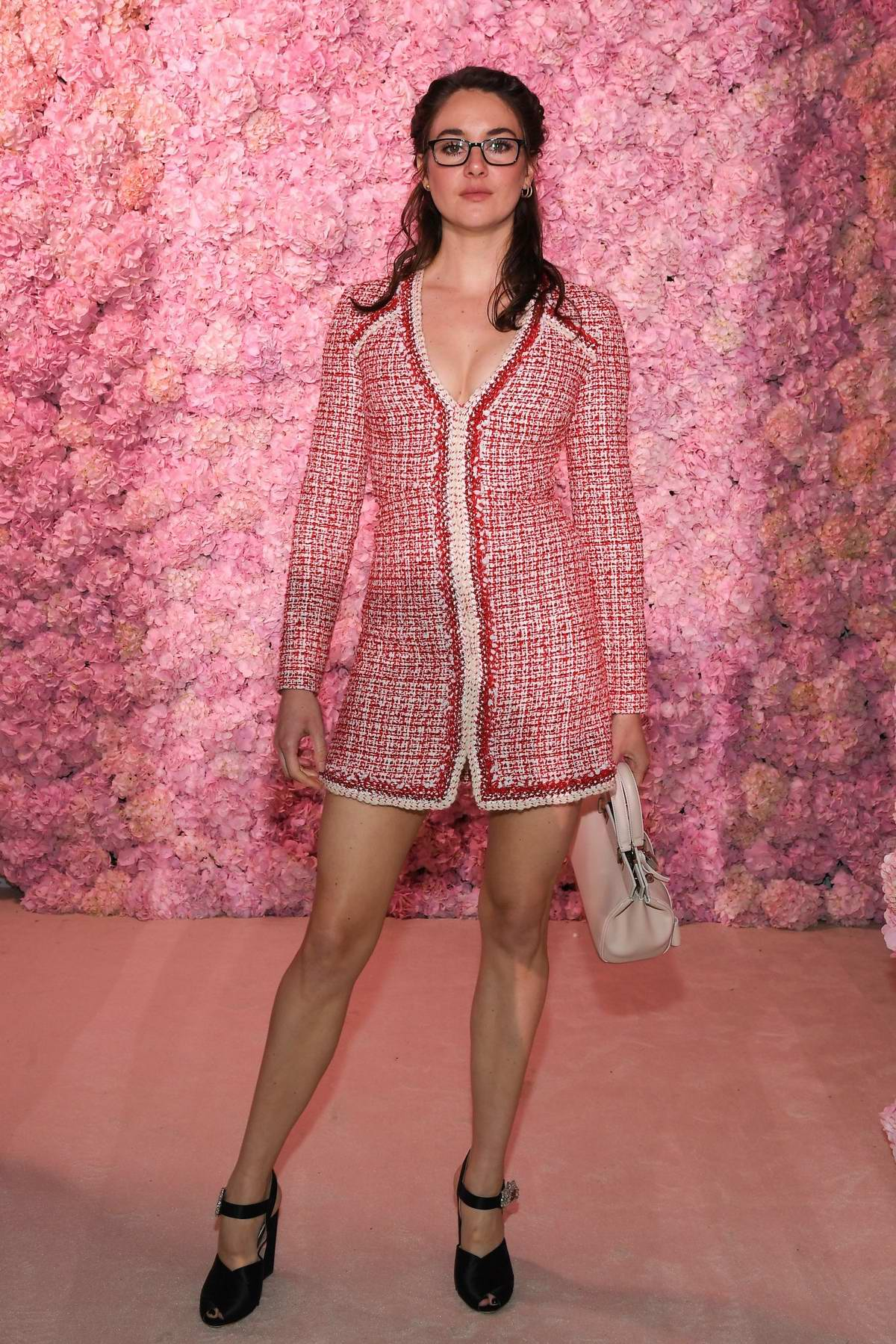 Shailene Woodley attends the Giambattista Valli show, F/W 2020 during Paris Fashion Week in Paris, France