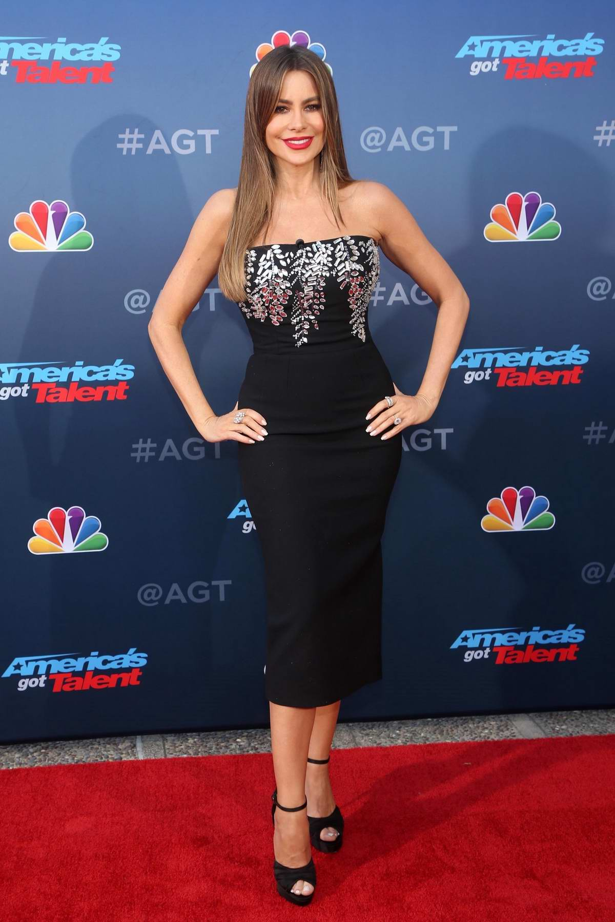 Sofia Vergara attends the 'America's Got Talent' Season 15 Kickoff at Pasadena Civic Auditorium in Pasadena, California