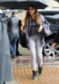 Sofia Vergara is all smiles as she arrives at America's Got Talent on a rainy day in Pasadena, California