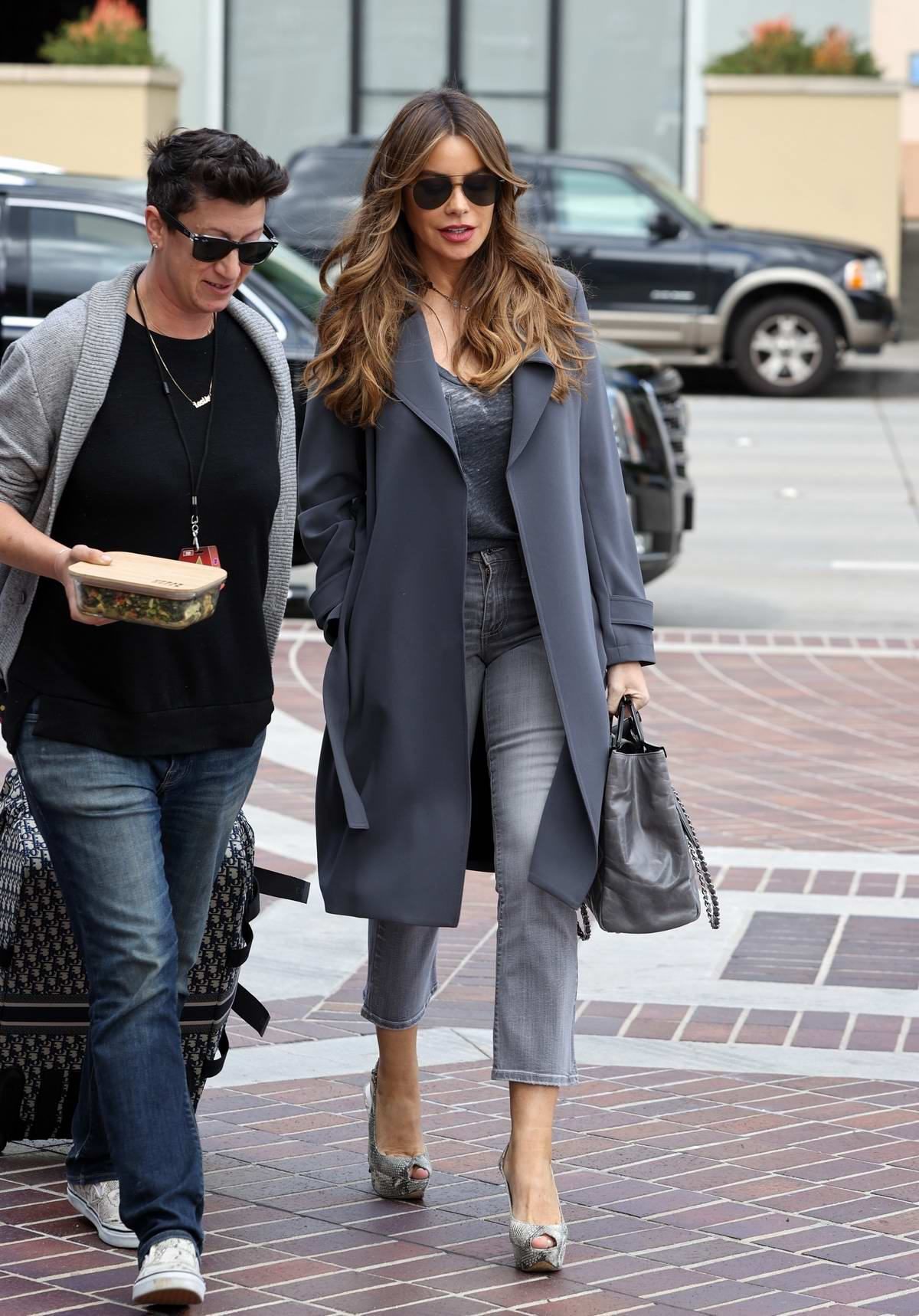 Sofia Vergara keeps it fashionable as she arrives at America's Got Talent in Pasadena, California