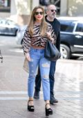 Sofia Vergara looks great in an animal print top as she arrives at 'America's Got Talent' in Pasadena, California