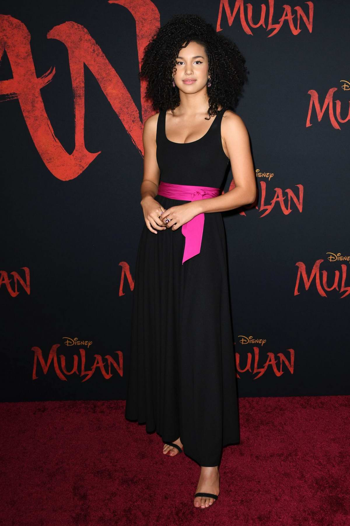 Sofia Wylie attends the Premiere of Disney's 'Mulan' at Dolby Theatre in Los Angeles