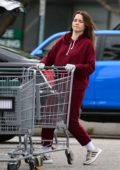 Sophia Bush wears latex gloves during a trip to Whole Foods in Los Angeles