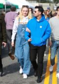 Sophie Turner and Joe Jonas seen enjoying a day at the Farmers Market in Los Angeles