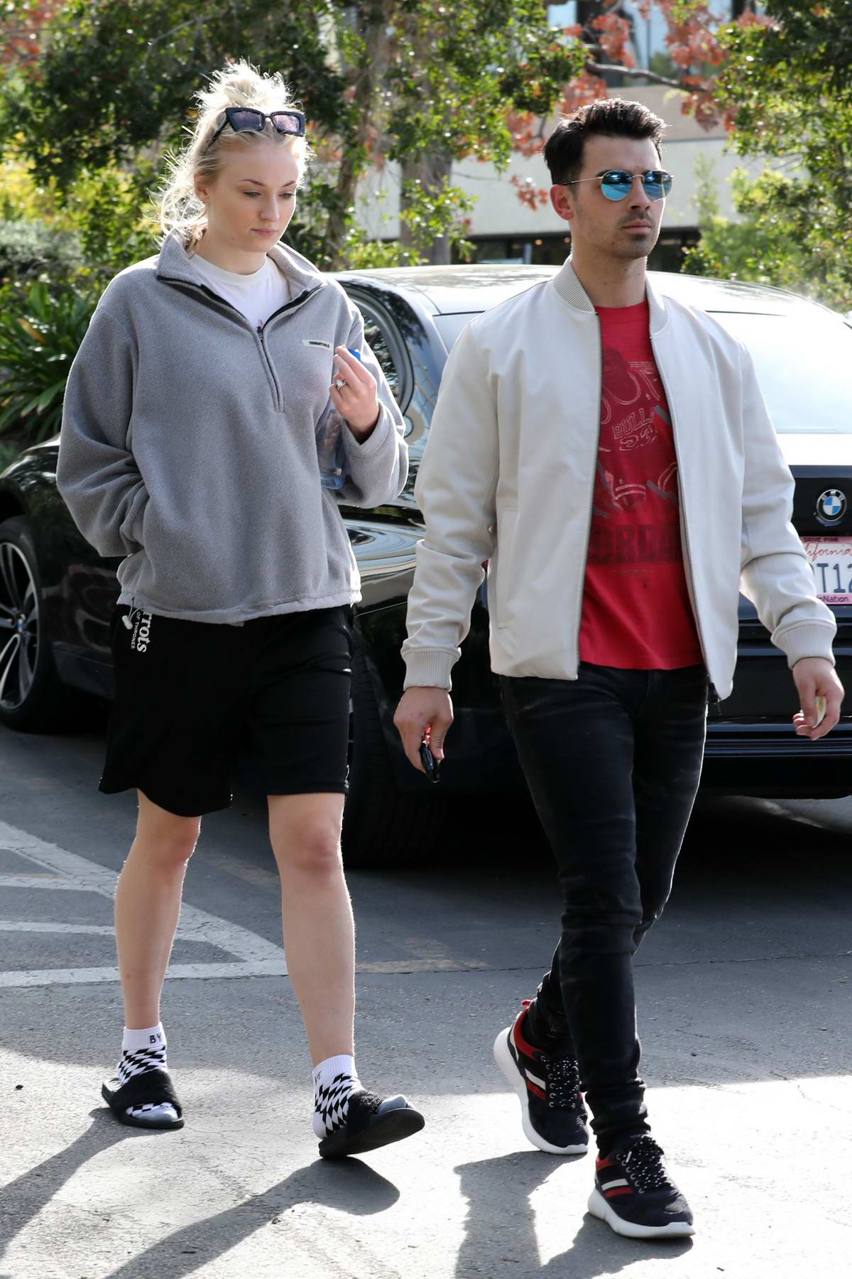 Sophie Turner and Joe Jonas step out for a casual walk in Los Angeles