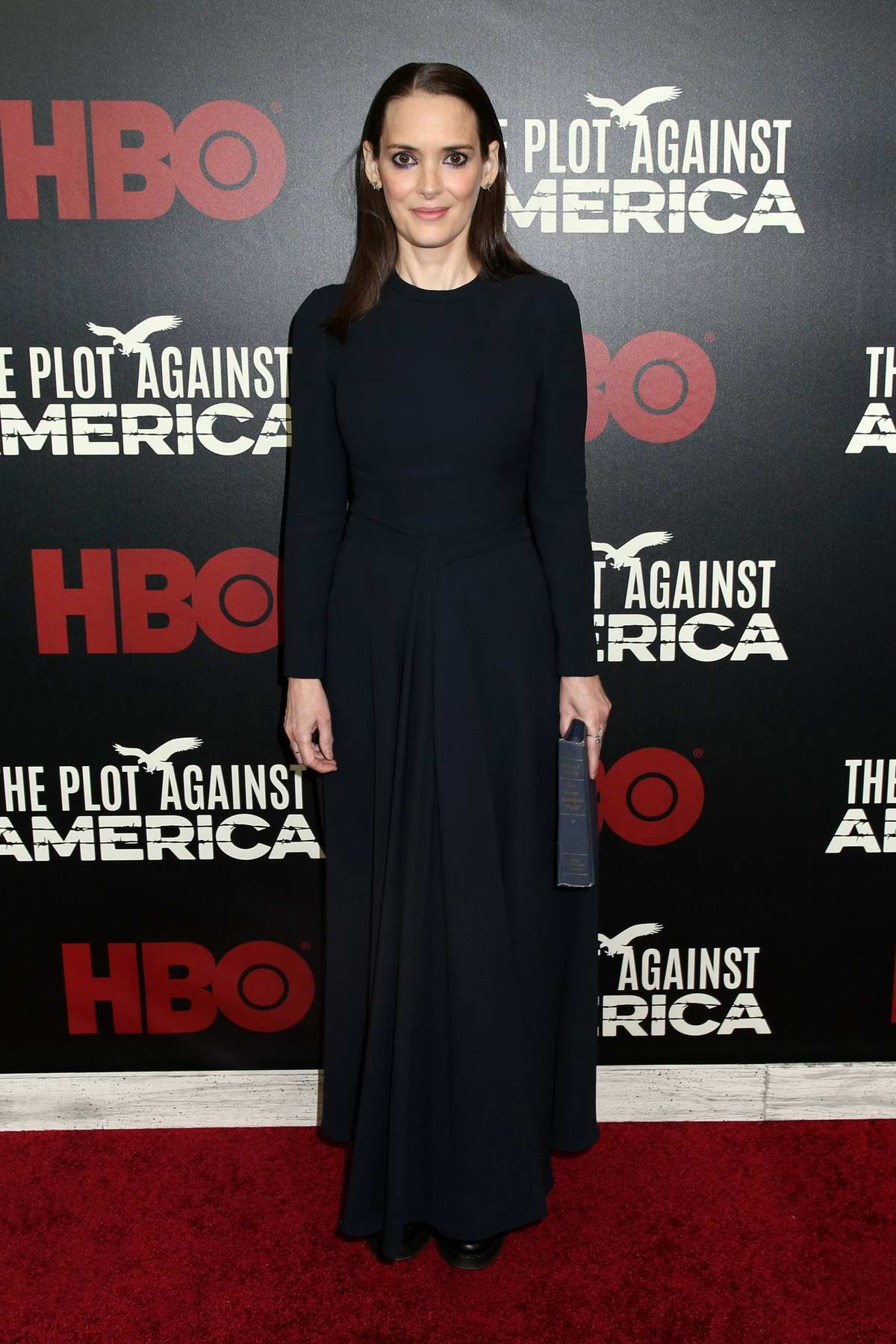 Winona Ryder attends the Premiere of 'The Plot Against America' in New York City