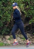 Ali Larter shows off her toned physique in leggings while out for run in Santa Monica, California