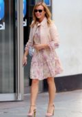 Amanda Holden looks lovely in floral print dress as she leaves Heart Radio in London, UK