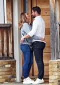 Amy Childs packs on some PDA with her new boyfriend while out in Essex, UK
