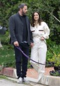 Ana De Armas and Ben Affleck are all smiles while out for a stroll on Easter in Pacific Palisades, California