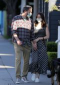 Ana de Armas and Ben Affleck wear matching masks as they step out for a stroll in Venice Beach, California
