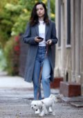 Ana de Armas steps out for an early morning walk with her pup in Los Angeles