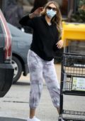 April Love Geary is back at the supermarket stocking up on food in Malibu, California
