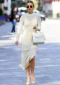 Ashley Roberts looks stylish in all-white as she leaves Global studios in London, UK