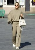 Ashley Roberts sports oversized beige sweatsuit while leaving Global Radio in London, UK