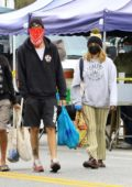 Ashley Tisdale and Christopher French go shopping at the farmer's market in Studio City, California