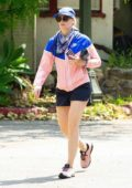 Beth Behrs goes on a healthy cardio workout during stay-at-home order in Los Angeles