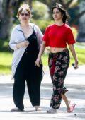 Camila Cabello and her mom Sinuhe Estrabao enjoy the fresh air during a morning stroll in Coral Gables, Florida