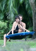 Camila Cabello and Shawn Mendes enjoy some romantic time on a swing in Miami, Florida