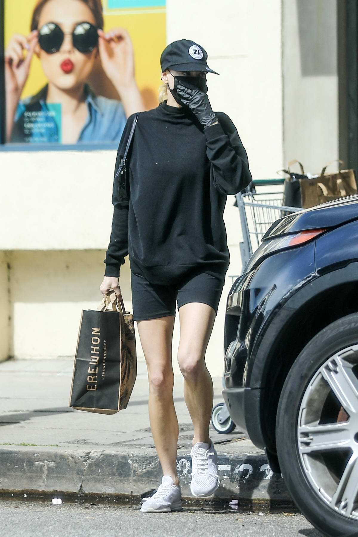 Charlotte McKinney had an unfortunate mishap with her car while grabbing some groceries at Erewhon in Los Angeles