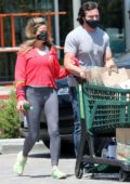 Denise Richards goes grocery shopping with husband Aaron Phypers in Malibu, California