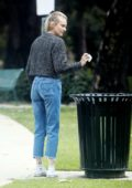 Diane Kruger spotted wiping down a park bench for her baby daughter in Los Angeles